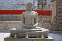 Buddha in Polonnaruwa temple - medieval capital of Ceylon - stock photo
