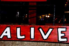 Alive Sign - stock photo