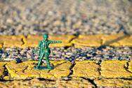 Toy MP Directing Traffic Stock Photos