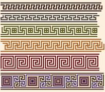 Classical Greek meanders - stock illustration