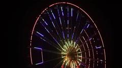 Illuminated Ferris wheel Stock Footage