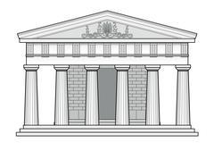Greek Doric temple - stock illustration