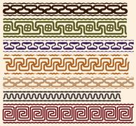 Stylized Greek meanders Stock Illustration