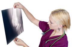 Female Radiologist - stock photo