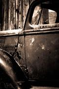 Vintage truck old barn brown - stock photo
