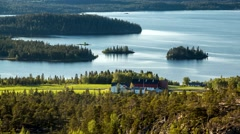 Landscape view on fjord. 4K time lapse footage. Norway - 2015. Stock Footage