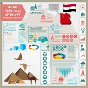 Arab republic Egypt  infographics, statistical data, sights Stock Illustration