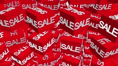 ACubes with sale message on red ER8U Stock Footage
