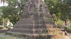 Monument in Wat Si Saket monastery, Vientiane, Laos Stock Footage