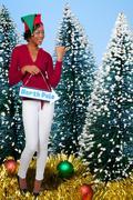 A beautiful black woman elf Stock Photos