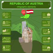 Austria  infographics, statistical data, sights - stock illustration