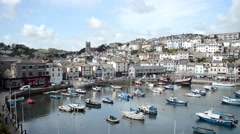 Harbor of Brixham, Torbay, Cornwall, England - stock footage