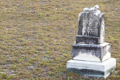 Old Headstone - stock photo