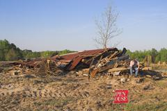 Disaster House Stock Photos