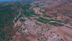 AERIAL: Souskiou abandoned village, Paphos district, Cyprus Stock Footage