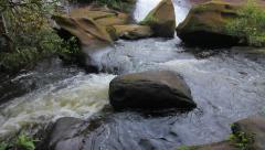 'Cha Nan' Waterfall, People are playing waterfall. Stock Footage