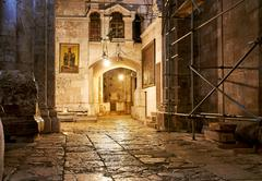 Church of the Holy Sepulchre in Jerusalem - stock photo