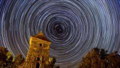time lapse stars long trails - stock footage