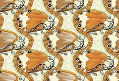 Seamless butterfly background - Pearly Heath Stock Illustration