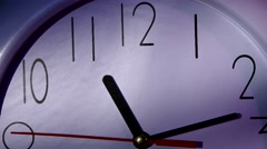 Clock showing Ten minutes past eleven. Close up Stock Footage