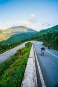 Hai Van pass - the famous road which leads along the coastline m - stock photo