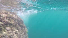 Air bubbles under water - stock footage