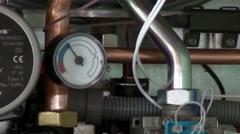 Manometer pressure gauge increasing - stock footage