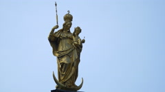 View of Mary's Column in Munich Stock Footage