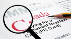 Search for immigration in Canada Stock Footage