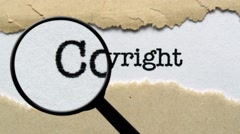 Search for copyright - stock footage
