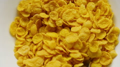 Corn flakes being. Stock Footage