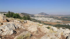 Aerial of  Jezreel Valley Stock Footage