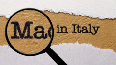 Made in Italy Stock Footage