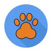 Paw icon - stock illustration