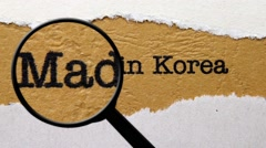 Made in Korea Stock Footage