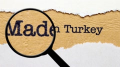 Made in Turkey Stock Footage