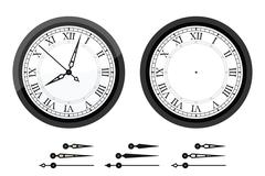 Clock with roman bended numerals Stock Illustration