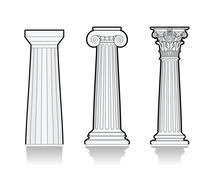 Stylized Greek columns - stock illustration