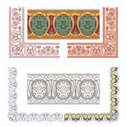 Art Nouveau seamless borders Stock Illustration