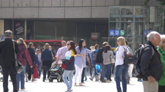 Walking and taking pictures in Munich - stock footage