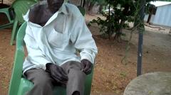 Man Showing Gun Shot Wounds From Civil War in JUBA, SOUTH SUDAN - stock footage