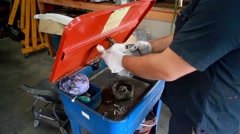 Parts cleaning Stock Footage