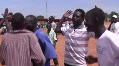 South Sudan Traditional Dancing at rally in JUBA, SOUTH SUDAN Stock Footage