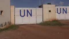 UN Headquarters in JUBA, SOUTH SUDAN Stock Footage