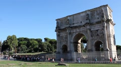 ROME - Arch of Constantine (Arco di Costantino) 2015 Stock Footage