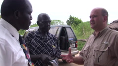 South Sudanese Rural Villagers near JUBA, SOUTH SUDAN Stock Footage
