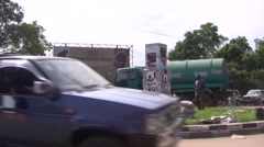 Busy Road  in JUBA, SOUTH SUDAN Stock Footage