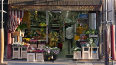 Neighborhood Fruit and vegtable store - Paris France Stock Footage
