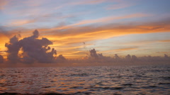 Sunrise at the beach Stock Footage