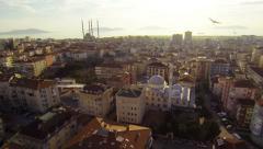 Aerial Istanbul City. Drone flying over Maltepe Region, Turkey. Stock Footage